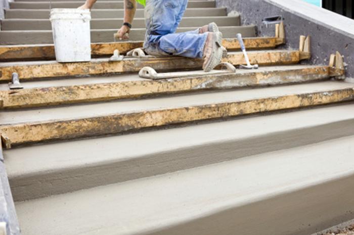 concrete stair construction